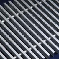Алюминиевая решетка 230/2000 Сатин